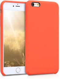 Midkart Back Cover for iPhone 6 / 6S Orange <b>Soft Liquid Silicone</b> ...