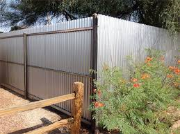 sheet metal fence. Perfect Fence Corrugated Sheet Metal Fence For