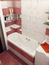 Bathroom Designs: Red White Stripe Bathroom - Contemporary Bathroom
