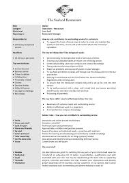 Waitress Job Description For Resume Fresh Updated Resume For Cashier