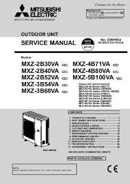 mitsubishi mini split troubleshooting.  Split Service Manual Mxz2b30va  E1 Mxz4b71va  Mitsubishi Electric In Mini Split Troubleshooting
