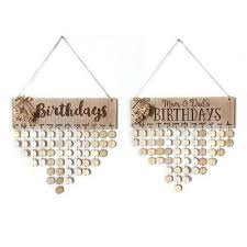 diy wooden birthday calendar board family friend sign dates hanging decor gift