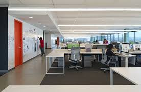 modern open plan interior office space. Evernote Open Plan With Concrete For Hallway And Carpet Under Desks. | Offices Pinterest Evernote, Modern Interior Office Space E