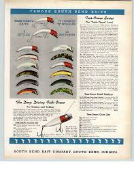 1942 Paper Ad South Bend Fishing Lure Fish Bass Trout Fly