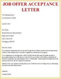 letter to accept job job offer acceptance letter write a formal job acceptance letter