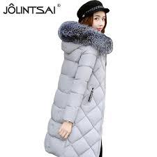 2018 jolintsai padded coats women parkas jackets women winter coat 2017 medium long hooded winter jacket female warm clothing from liangcloth