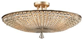 gorgeous semi flush chandelier john richard six light beaded crystl semi flush traditional