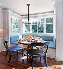 Dining Room:Radiant Breakfast Nook With Black Colonial Stools And Round  Pedestal Table Astonishing Breakfast