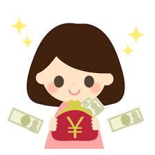 お金がたくさんある女性 – 無料イラスト素材ならイラストック