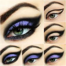 witch eye makeup tutorial inspiration ewelina shows us easy breezy ways to create the perfect night out look smear on some purple and black hues to