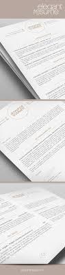 Elegant Resume Template Premium Line Of Resume Cover Letter