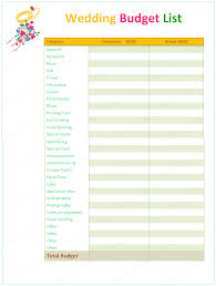 wedding planning on a budget wedding budget planner word list templates