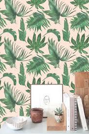 Zelfklevend Behang Botanische Bladeren Groen Roze 60x244 Cm