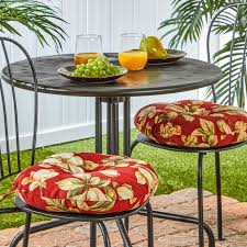 patio furniture outdoor cushions pillows outdoor 15 inch roma fl bistro chair cushions set of 2 15w