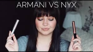 <b>Жидкие тени</b> Armani против <b>теней</b> NYX - YouTube