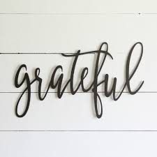 inspirational wall art grateful