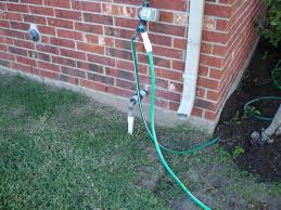 Tapping To The Main Water Supply Line For Water Softener - Exterior drain pipe