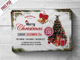 Christmas Photoshop Templates 25 Postcards Party Flyers Photo Cards