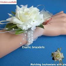 wedding or prom wrist corsage with bracelet silk rose boutonnieres and corsages decorative flowers wreath for wedding silk artificial flowers artificial