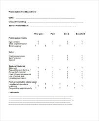 Presentation Feedback Form Template Supplier Evaluation Form Example Tools And Benefits Questionpro