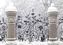 Wandering the Good... | Winter garden, Gate, Winter wonder