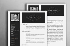 Minimal Resume Template Dark
