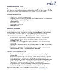 Cover Letter For A Caregiver Resume Examples