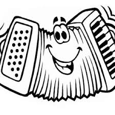 Small Picture Accordion Funny Face in Musical Instruments Coloring Pages Bulk