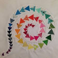433 best PAPER-PIECING QUILT 1 images on Pinterest | Quilts ... & My latest finish is my spiral of geese mini quilt for Fab Little Quilt  Swap. It measures and consists of 50 paper-pieced flying geese on a reverse  appliqued ... Adamdwight.com