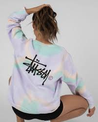 Stussy Verna Tie Dye Sweatshirt | $99.95 | City Beach