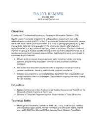 It Analyst Resumes Gis Analyst Resume