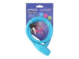 <b>замок тросовый APECS</b> 800мм голубой - Чижик