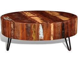 newest solid round coffee tables intended for furniture round wood coffee table fresh vidaxl reclaimed