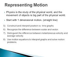 representing motion physics is the study of the physical world and the movement of objects