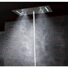 modern shower head recessed bathroom lighting. Lad Large Rain And Waterfall Shower Head Modern Recessed Bathroom Lighting