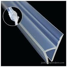 shower drip rail shower door 1 4 shower door bottom sweep with drip rail for 3