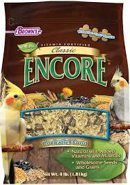 Cockatiel Diet Chart Encore Classic Natural Cockatiel Food F M Browns