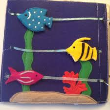 sliding fish quiet book page