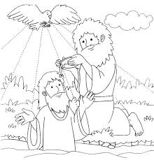 Jesus Being Baptized Coloring Page Baptism Of Coloring Page Baptism
