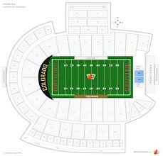 Cu Football Seating Chart Colorado Football Club Seating At Folsom Field