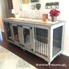 how to build a dog crate making dog crate into table diy dog kennel