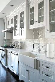 white kitchen backsplash all white kitchen with mini subway tile white kitchen backsplash tile beveled