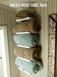 towel storage rack. Horizontal Bookshelf Style Towel Shelf Storage Rack