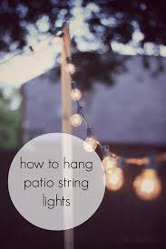 How to Hang Patio String Lights for when you dont have something