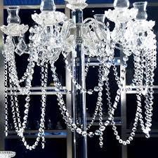 hot diy clear acrylic crystal bead garland chandelier hanging wedding supplies