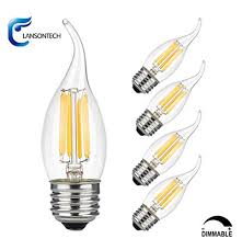 lansontech 6 watt led filament candelabra light bulb