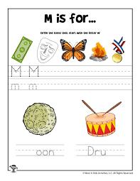 Jolly phonics activities phonics worksheets kindergarten worksheets phonics cards. Letter M Phonics Recognition Worksheet Woo Jr Kids Activities