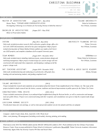 Architecture Intern Resumes The Architecture Resume That Gets You Hired Templates Included