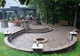 Innovation Patio With Fire Pit And Pergola P For Design Inspiration