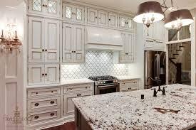 gray accents and gl pendant lights backsplash ideas with white cabinets and dark countertops grey tile flooring decor idea brown brick tile backsplash